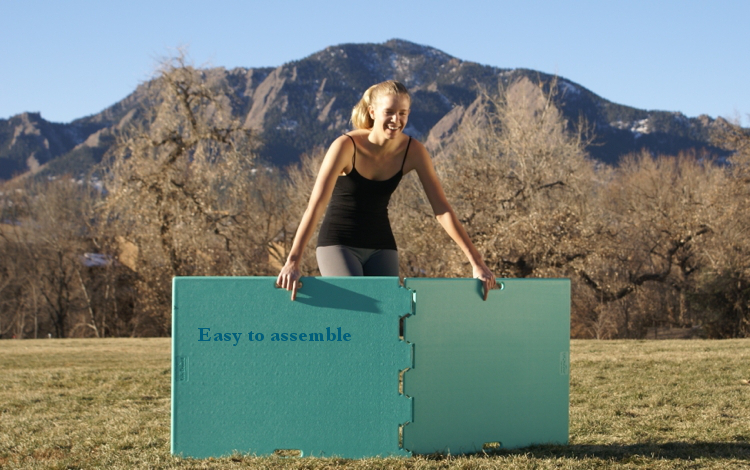 Lifeboard yoga anywhere for How to build an outdoor yoga platform